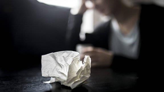 Ein benutztes Taschentuch