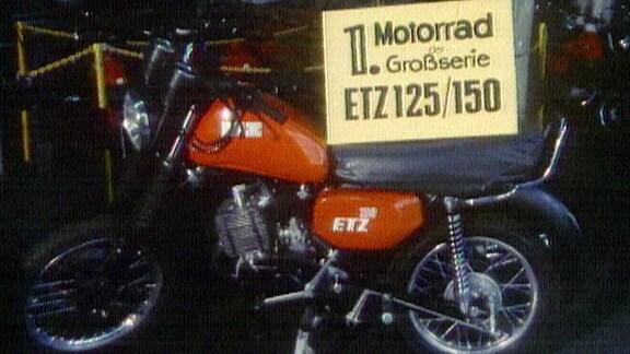erstes Motorrad der Großserie ETZ 125/150