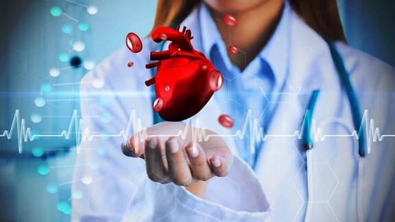 Symbolbild Herz Frequenz