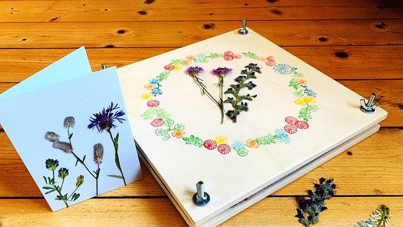 gepresste Blüten mit Judith Heinze