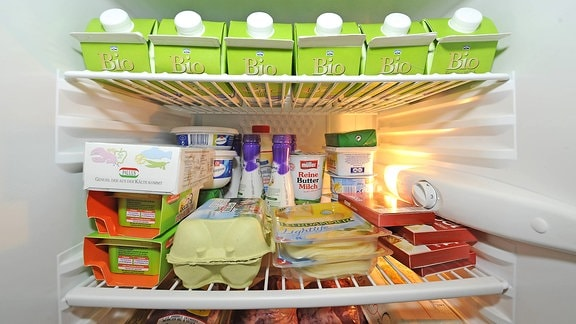 Ein gut gefüllter Kühlschrank
