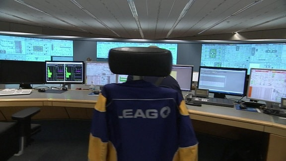 Leitstand im Kraftwerk Boxberg