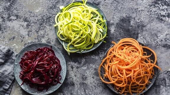 Nudeln aus frischem Gemüse