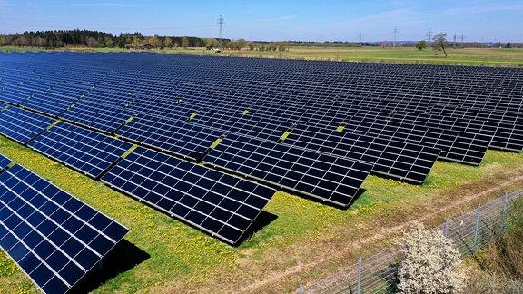 Photovoltaikanlage im Unterallgäu.