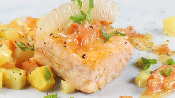 Fischfilet - Käse-Tatar - Wurzelgemüse