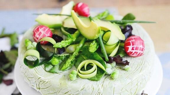 Lachsterrine mit Avocado