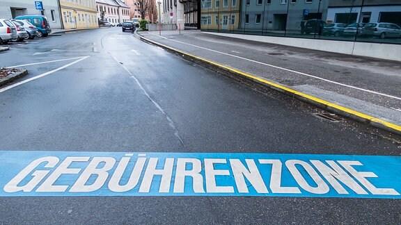 Gebührenzone in der Stadt