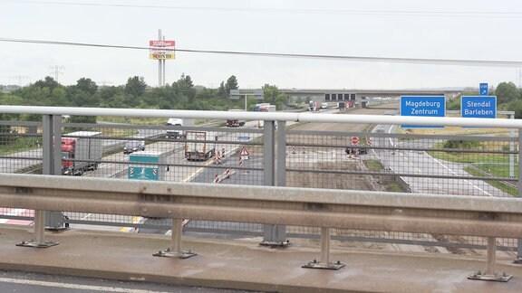 Autobahn A2, eine große Baustelle