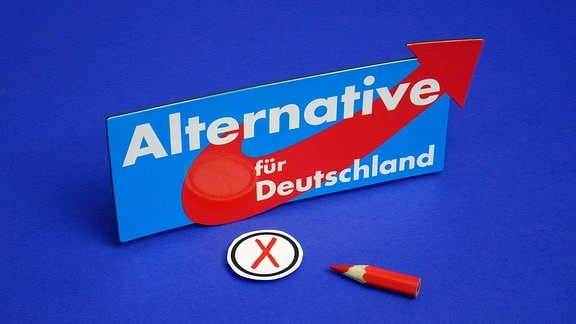 AfD mit Wahlkreuz und Stift