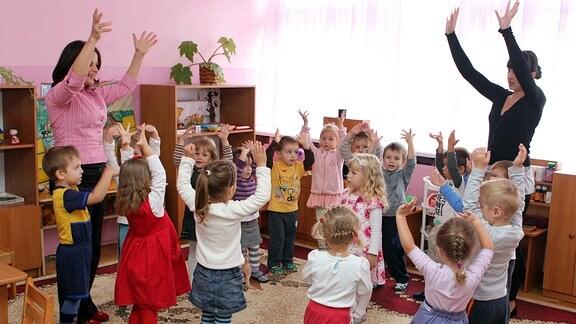 Kita-Kinder beim Spielen