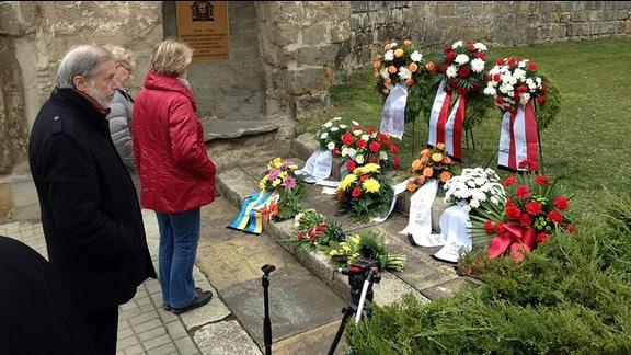 Gedenken Zerstörung Halberstadt 1945 Franzosenkirche
