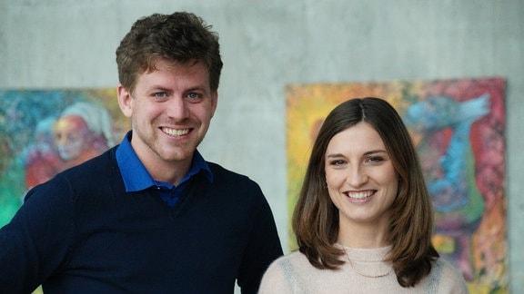 Nadja Storz und Julian Kanth