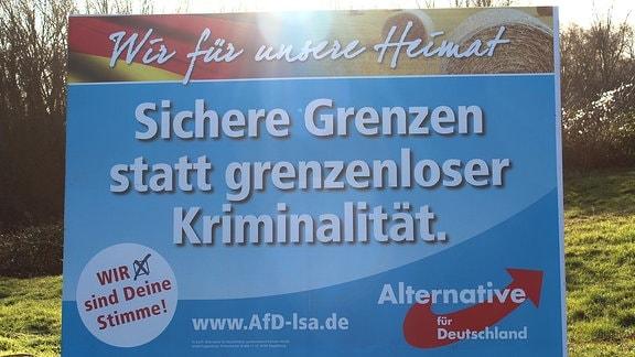 Ein Wahlplakat der Alternative für Deutschland