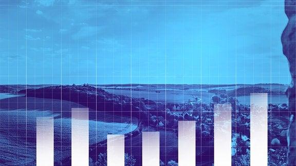 Alterung und Schrumpfung: Die Zahl der in Sachsen-Anhalt lebenden Menschen wird weiter sinken. Blick von der Burg Arnstein am Rande des Harzes im Landkreis Mansfeld-Südharz.