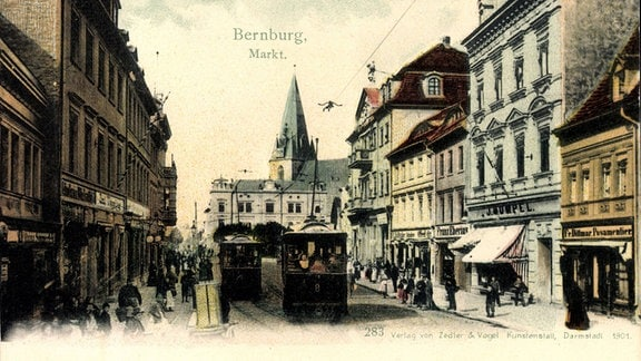 Markt Bernburg (Thälmannplatz) um 1900