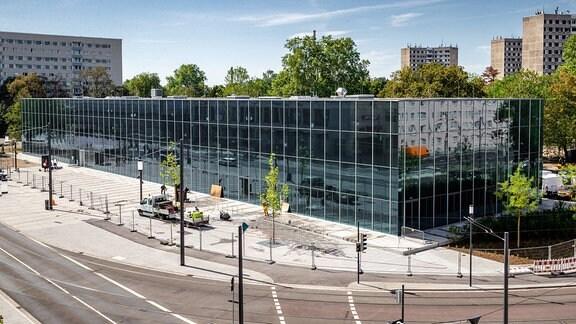 Außenansicht des Bauhaus Museums Dessau