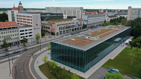 Bauhausmuseum Dessau von oben
