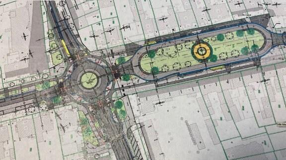 Plan für die Neugestaltung des Albrechtsplatzes