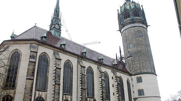 Außenansicht Wittenberger Schlosskirche