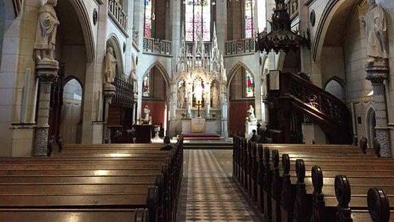 Schloßkirche Wittenberg, Blick auf Altar