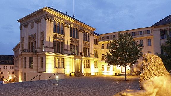 Gebäude des Campus der Martin-Luther-Universität in Halle an der Saale.