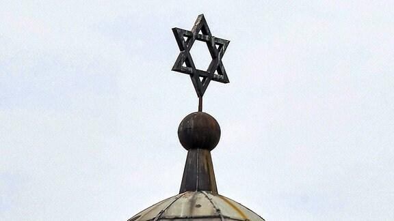 Kuppel der Synagoge in Halle.