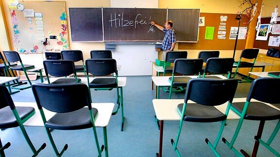 Hitzefrei in der Schule