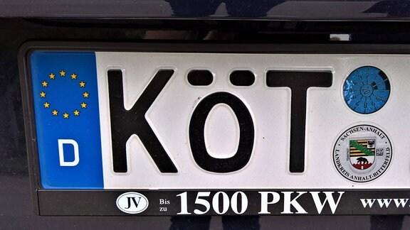 KFZ Kennzeichen KÖT- fuer Köthen in Anhalt Bitterfeld