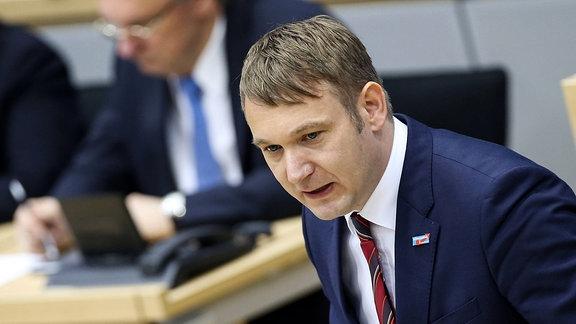 André Poggenburg im Landtag