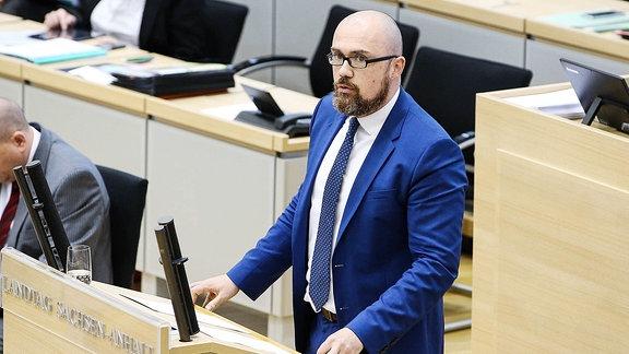 Hans-Thomas Tillschneider (AfD) im Landtag
