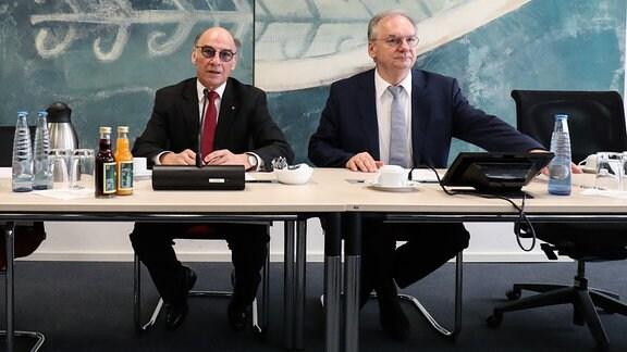 Siegfried Borgwardt und Reiner Haseloff, 2019