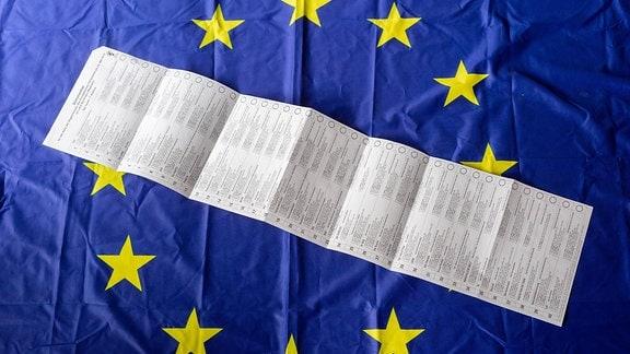 Europawahl Stimmzettel Querformat