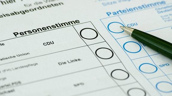 Stimmzettel für die Briefwahl zu den Landtagswahlen 2016