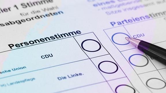 Stimmzettel für die Briefwahl zu den Landtagswahlen