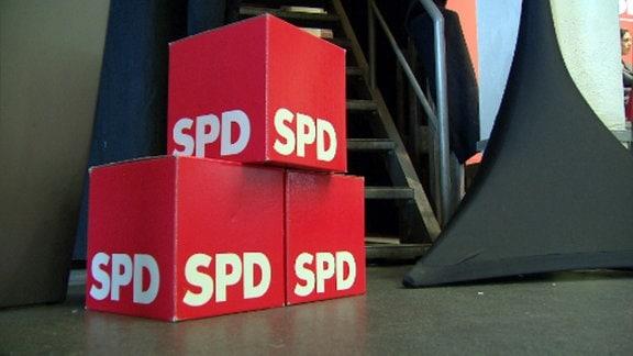 SPD-Logo auf Würfeln