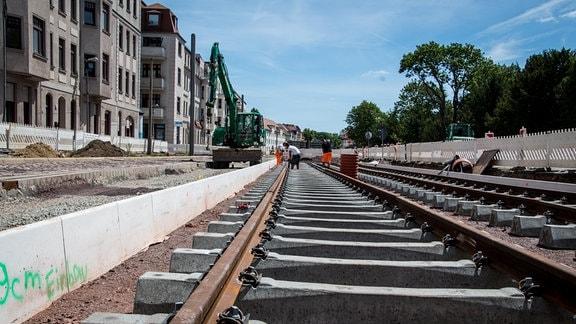 Baustellen in Magdeburg im Juli 2019
