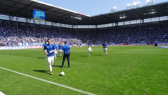 FCM-Spieler auf dem Feld.