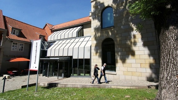 Blick auf die Lyonel-Feininger-Galerie in Quedlinburg.