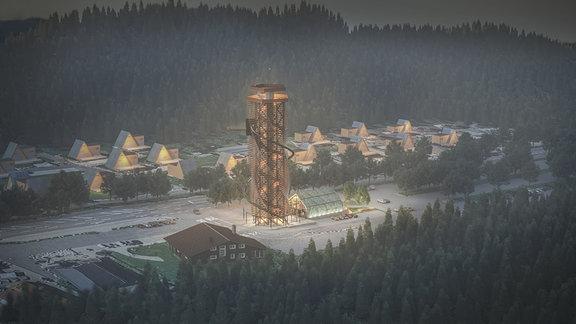 So könnte der Harzturm nach seiner Fertigstellung aussehen.