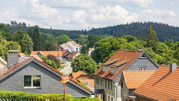Blick über den Tourismus-Ort Schierke im Landkreis Harz