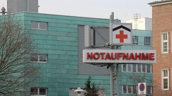 Die Notaufnahme der Uniklinik in Magdeburg.