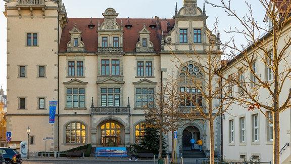 Blick auf das Rathaus in Bernburg, Salzlandkreis.