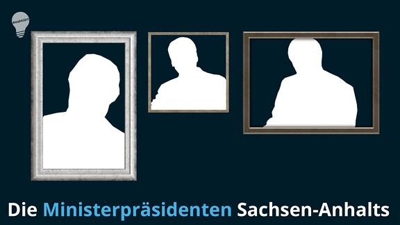Silhouetten von Ministerpräsidenten in Bilderrahmen
