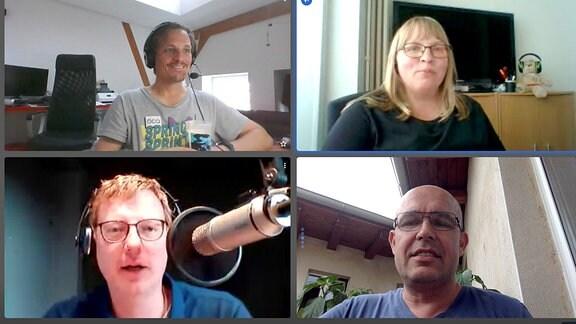 Bildschirm Teilnehmer Videokonferenz