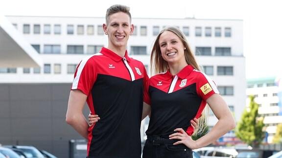Schwimmer Lukas Märtens mit Freundin Celine Rieder SC Magdeburg