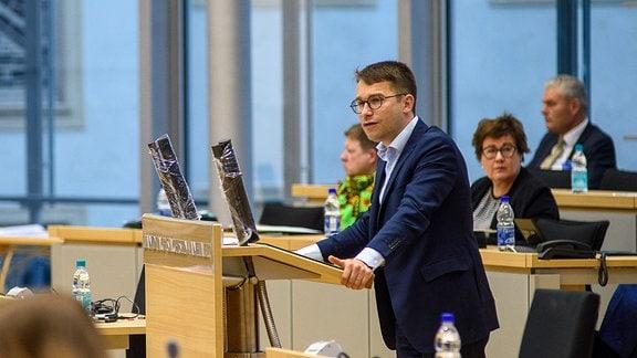 Sebastian Striegel, Co-Landesvorsitzender von Bündnis 90/Die Grünen