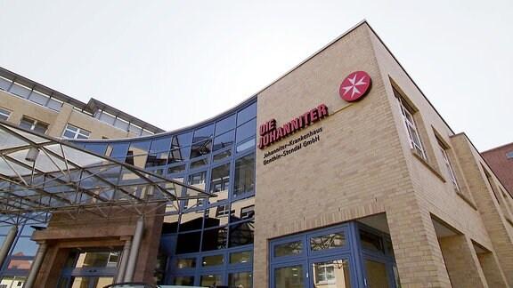 Außenansicht Johanniter Krankenhaus Stendal.