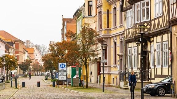 Blick in die Fußgängerzone in der Hansestadt Gardelegen