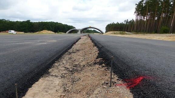 Fahrbahnen auf Autobahn-Baustelle