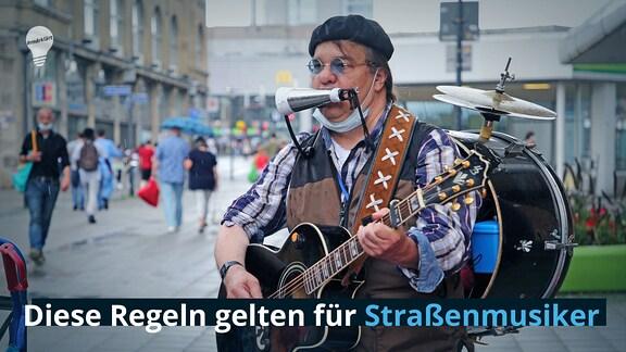 Ein Straßenmusiker